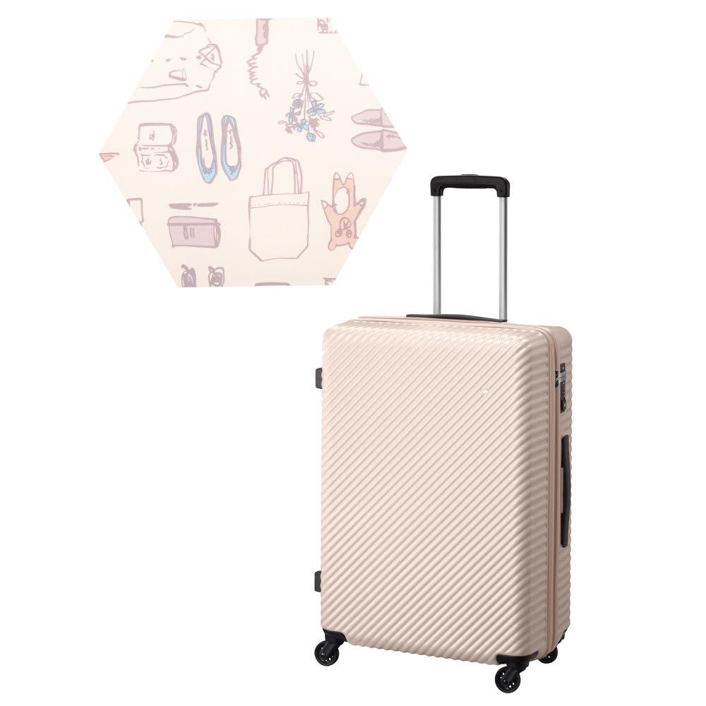 ACE HaNT(ハント) TSAロックスーツケース ストッパー付 75L 4.1kg (ク)ダリアベージュ