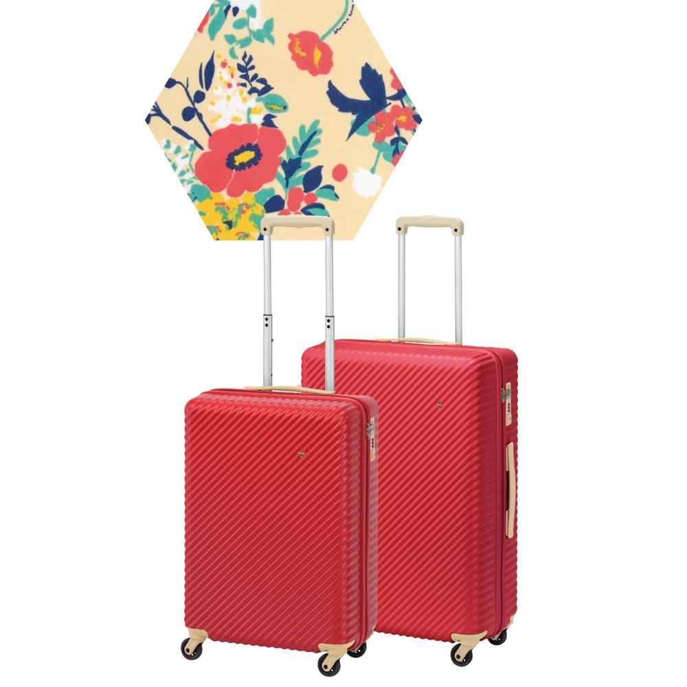 ACE HaNT(ハント) TSAロックスーツケース ストッパー付 75L 4.1kg (ウ)レッド:ライナープリント柄