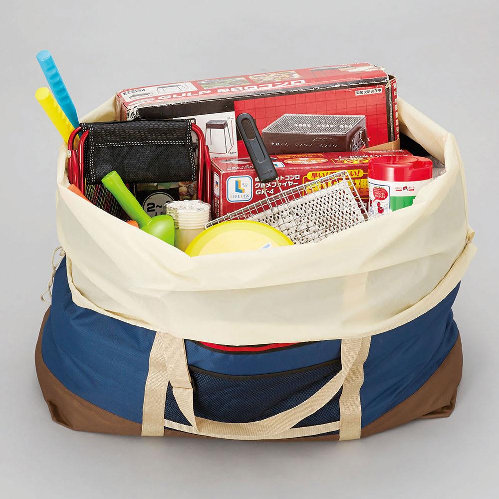 COGIT(コジット)/大型ランドリーでのまとめ洗いに!巾着袋付きドデカボストンバッグ 海やバーベキューでのレジャー用品入れに。