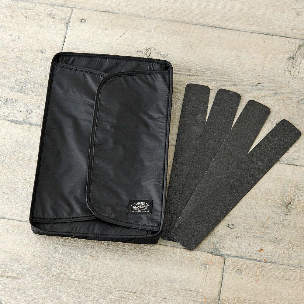 SOLO TOURIST(ソロツーリスト)/ワイシャツケース (ア)ブラック/着脱可能な4本のプラスチックボード付き