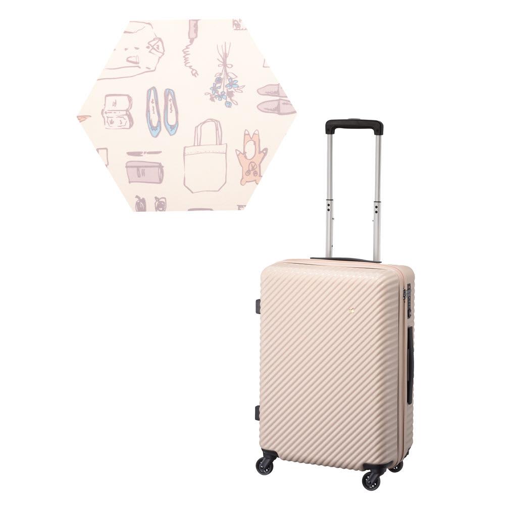 ACE HaNT(ハント) ストッパー付スーツケース サイドハンドル付 47L 3.5kg (ク)ダリアベージュ