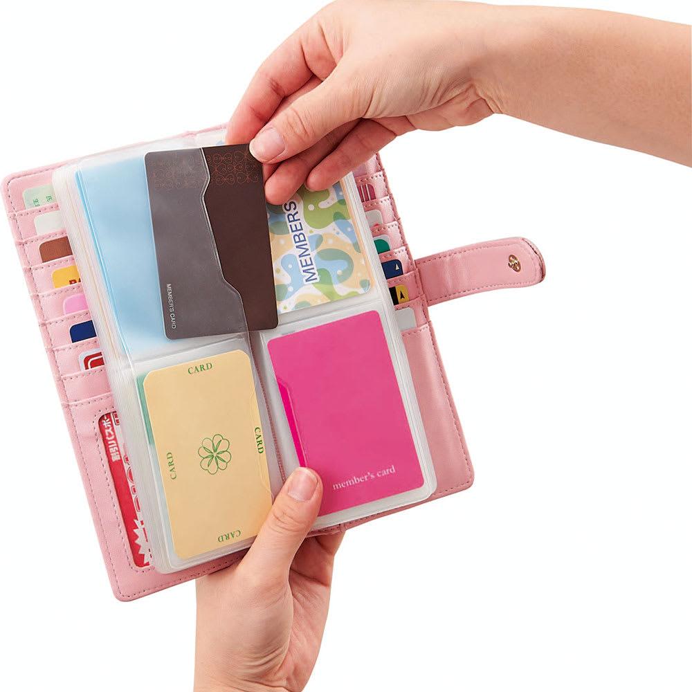 COGIT(コジット)/カードが見つけやすい56枚スリムカードケース 見やすいマド付サイドポケット。