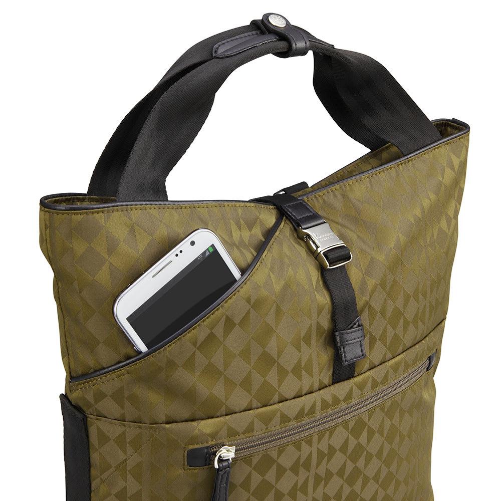 カナナプロジェクト モノグラム トートボストンバッグ 携帯電話などの小物を簡単に出し入れできるポケット(※画像は商品番号:NV14-04になります)