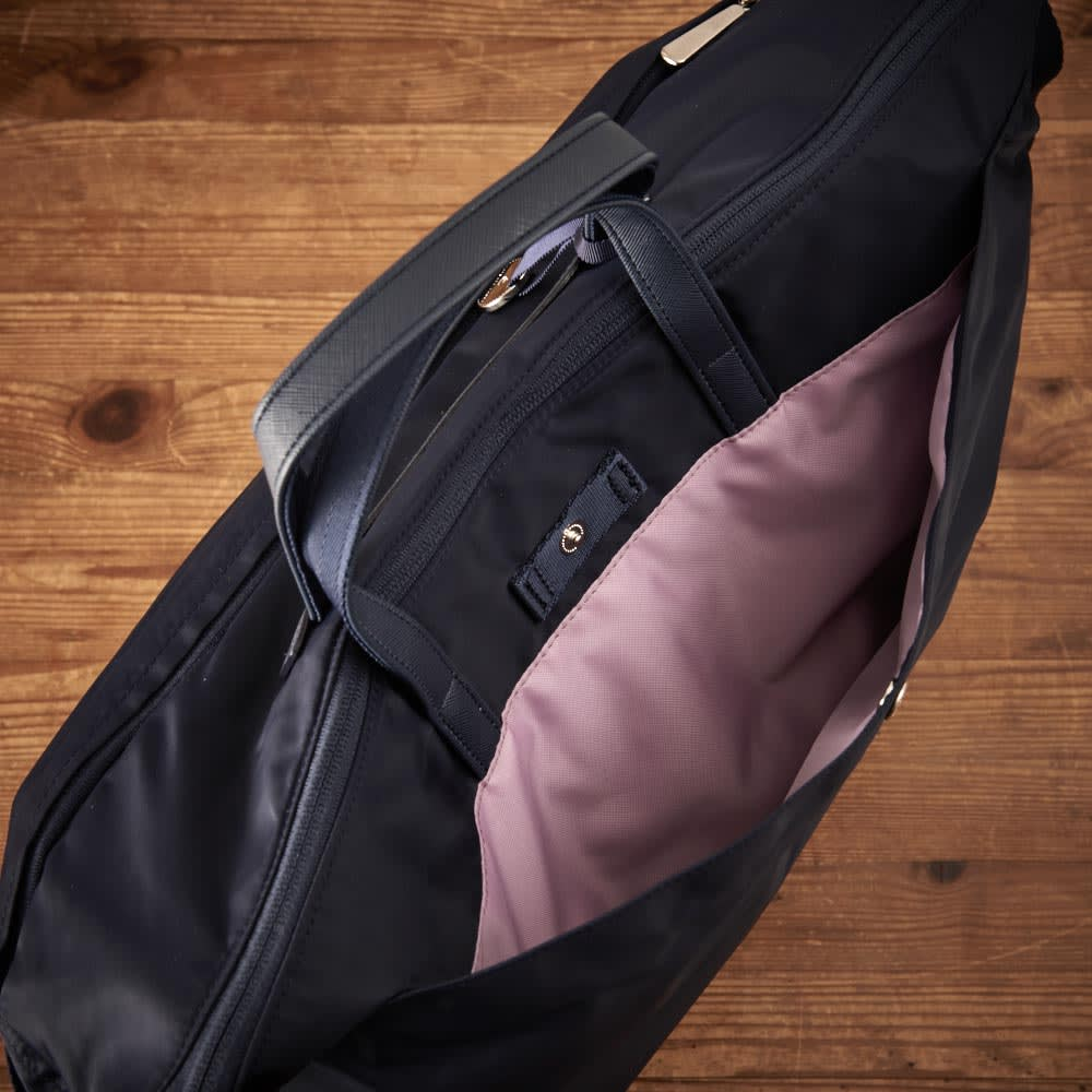 プライベートレーベル オリオールズ ボストンバッグ 背面/ホック付オープンポケット×1