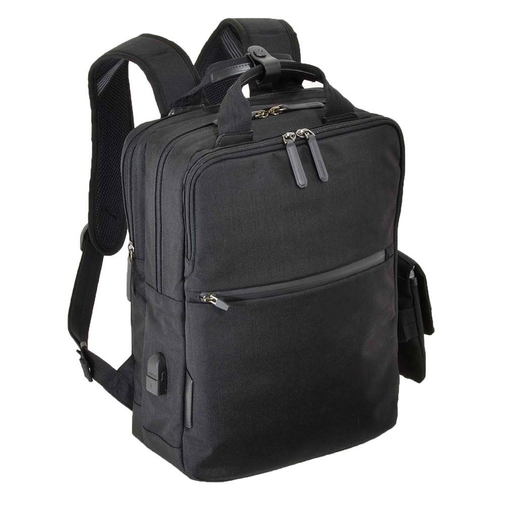エンドー鞄/NEOPRO(ネオプロ) CONNECT スマホを充電USBポート搭載バックパック (ア)ブラック