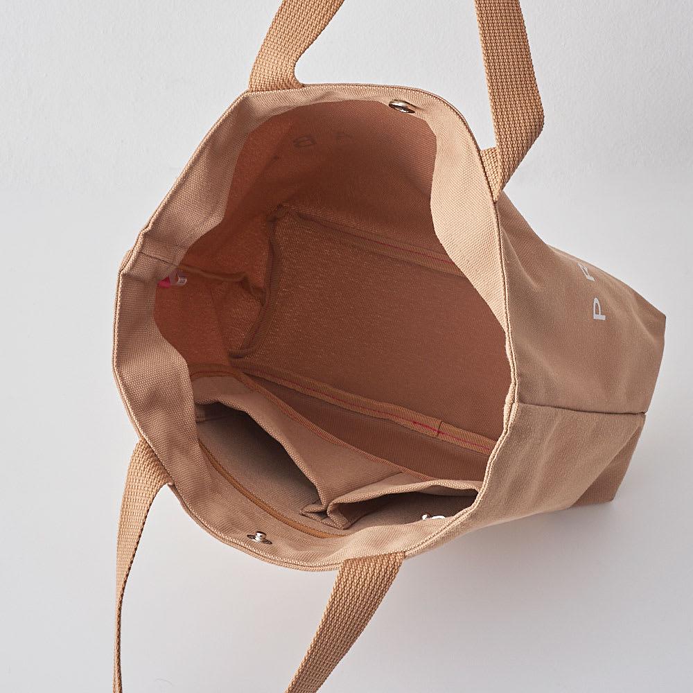 プライベートレーベル B5サイズトートバッグ(中サイズ) 内側/吊オープンポケット×2