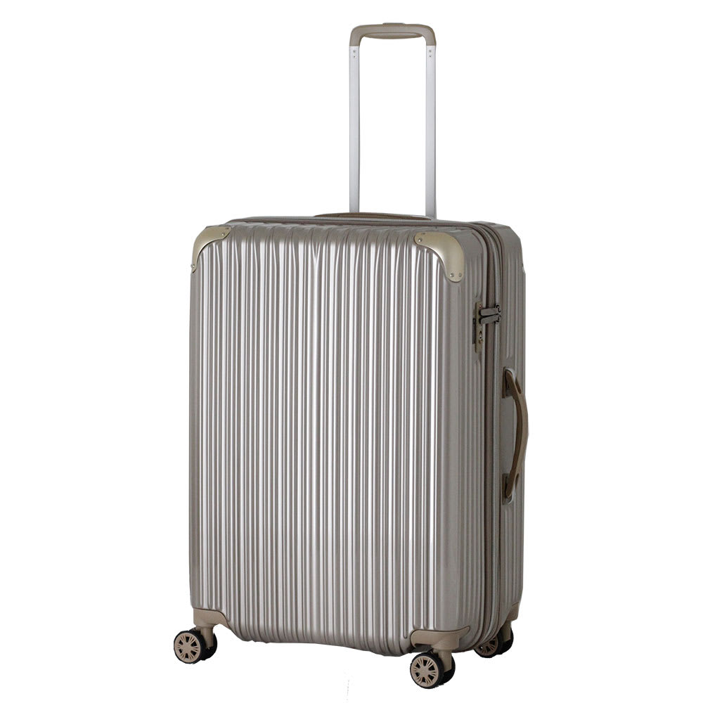 トライデント/拡張式ハードジッパースーツケース|キャリーケース・キャリーバッグ (ア)ゴールド