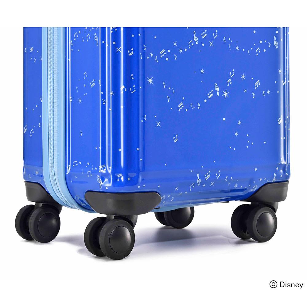 ace.ディズニー映画『ファンタジア』スーツケース 小回りと安定した走行性に優れた大型4輪キャスターを採用しています