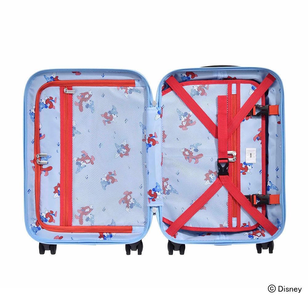 ace.ディズニー映画『ファンタジア』スーツケース 32L/両面についた中仕切りで荷崩れを防ぎます。