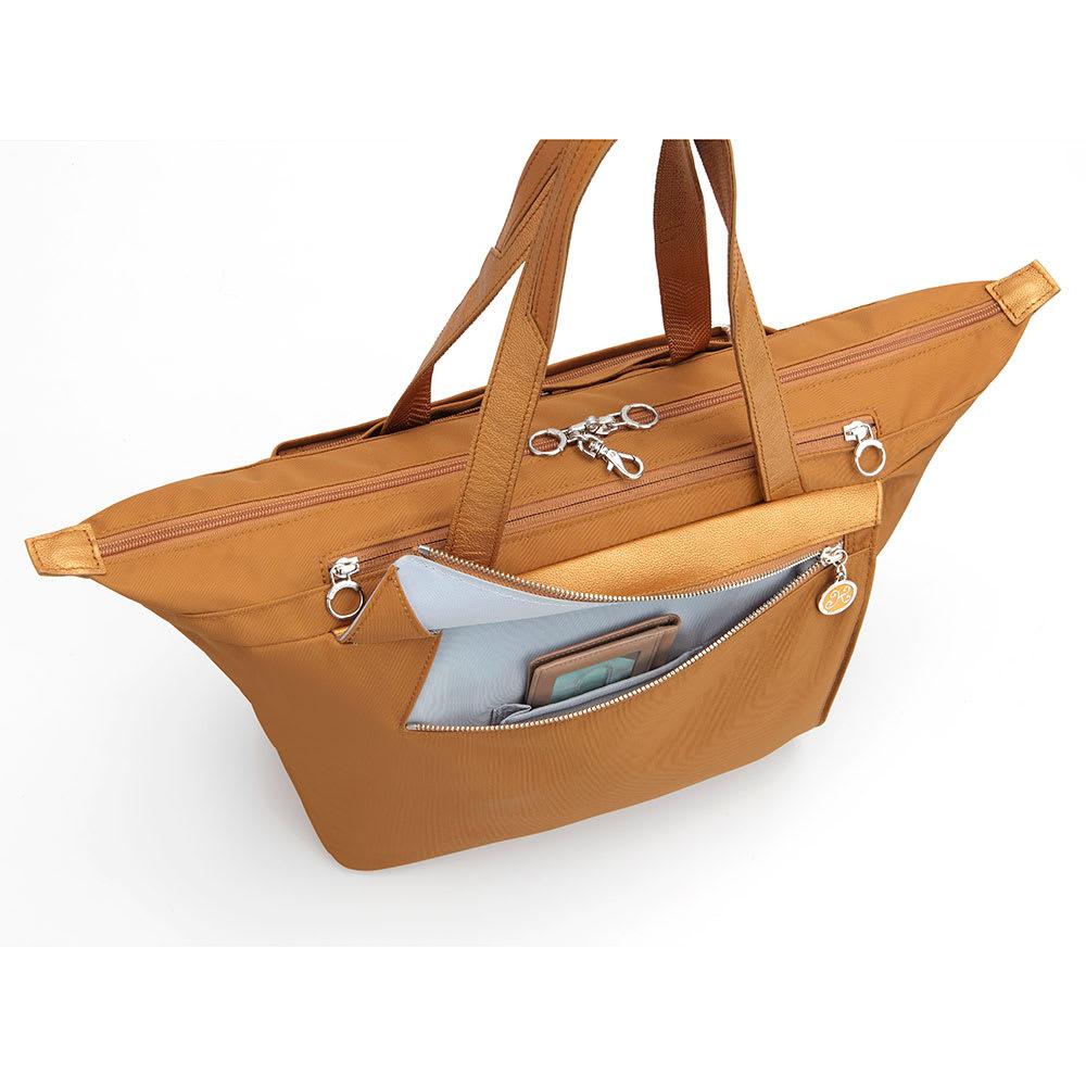 カナナプロジェクト/トートバッグ A4サイズ フロントポケット(小物類の収納に便利なファスナー付フロントポケット)(※商品番号:NV25-92の画像を使用しています)