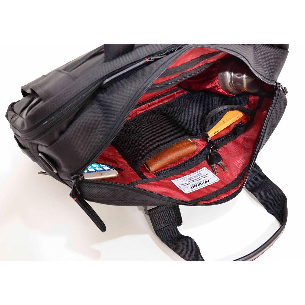 エンドー鞄/NEOPRO(ネオプロ) RED 3WAYブリーフ Wルーム 内装はレッドで目視がしやすい