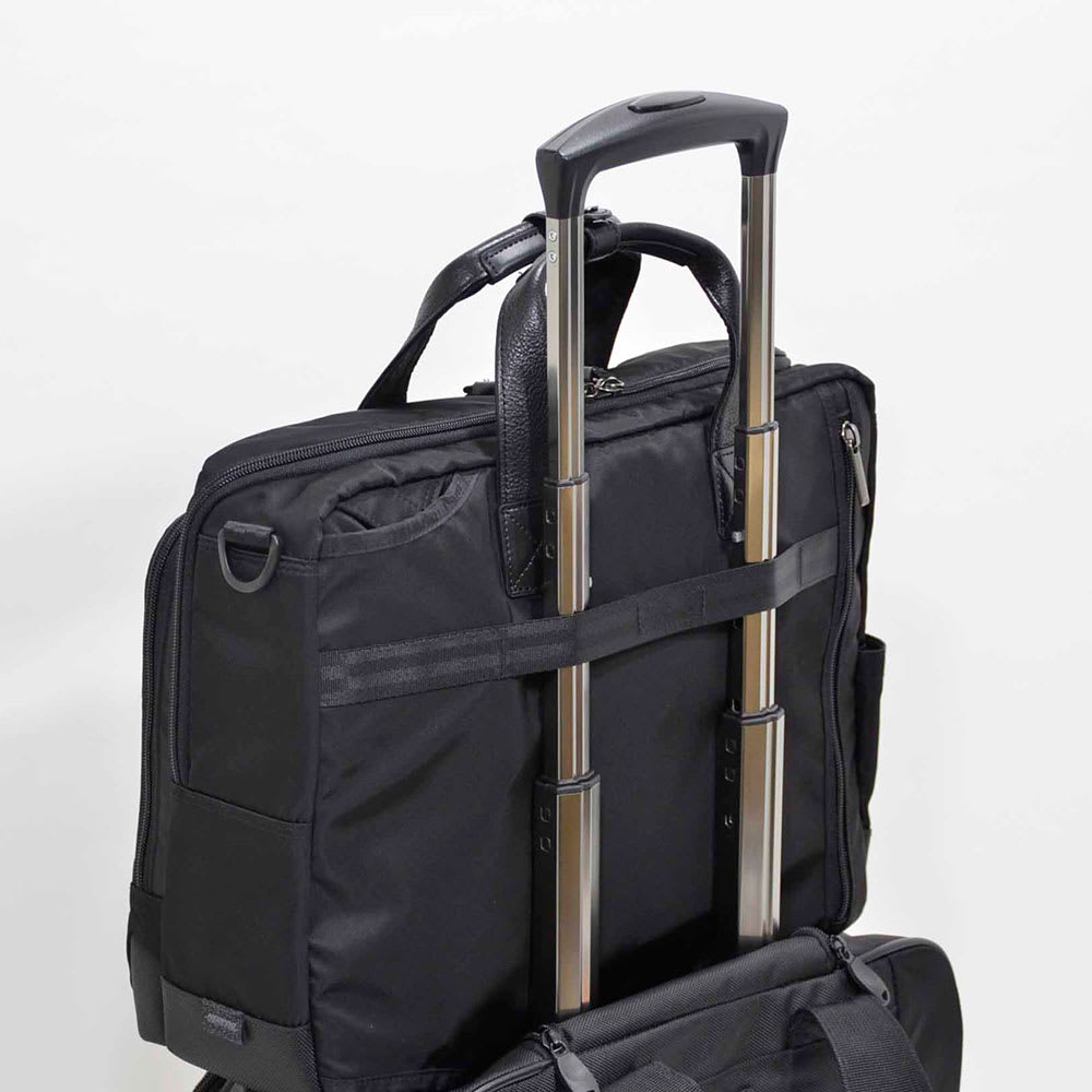 エンドー鞄/NEOPRO(ネオプロ) DELLIGHT 3WAYブリーフ スーツケースやトローリーバッグのキャリーバーに装着可能なセットアップ機能を搭載
