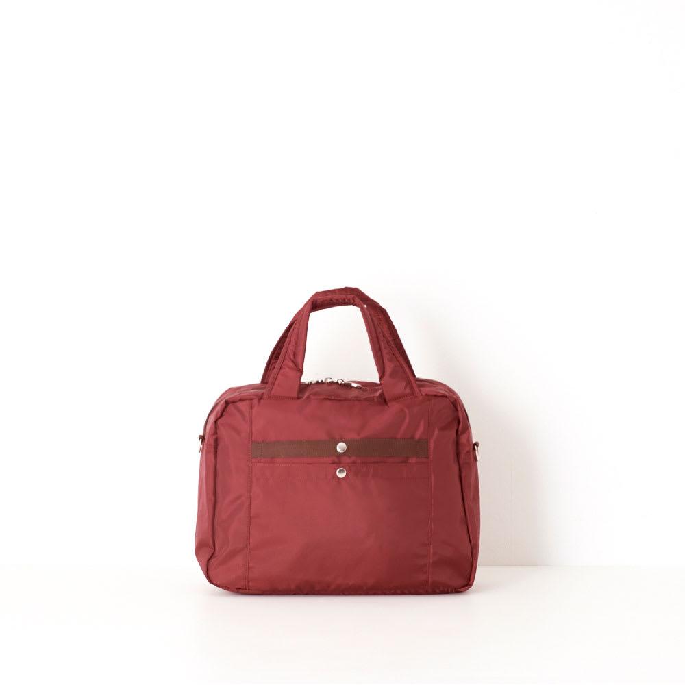 RIMINI(リミニ)/アトリエ ボストンバッグ 小サイズ (イ)ワイン/スーツケースなどのバーハンドルに固定できるセットアップ機能を装備