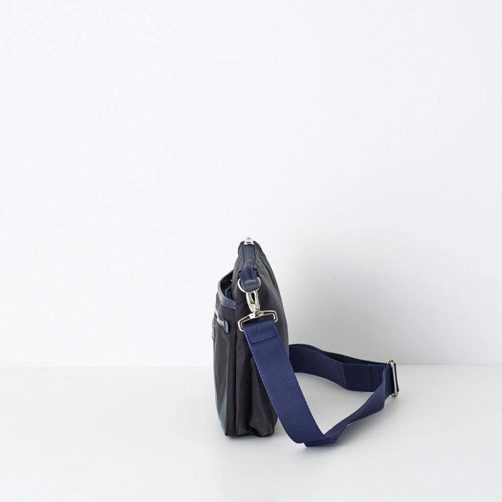 アルカペル/ベニート よこ型ショルダーバッグ (ア)ブラック/Side