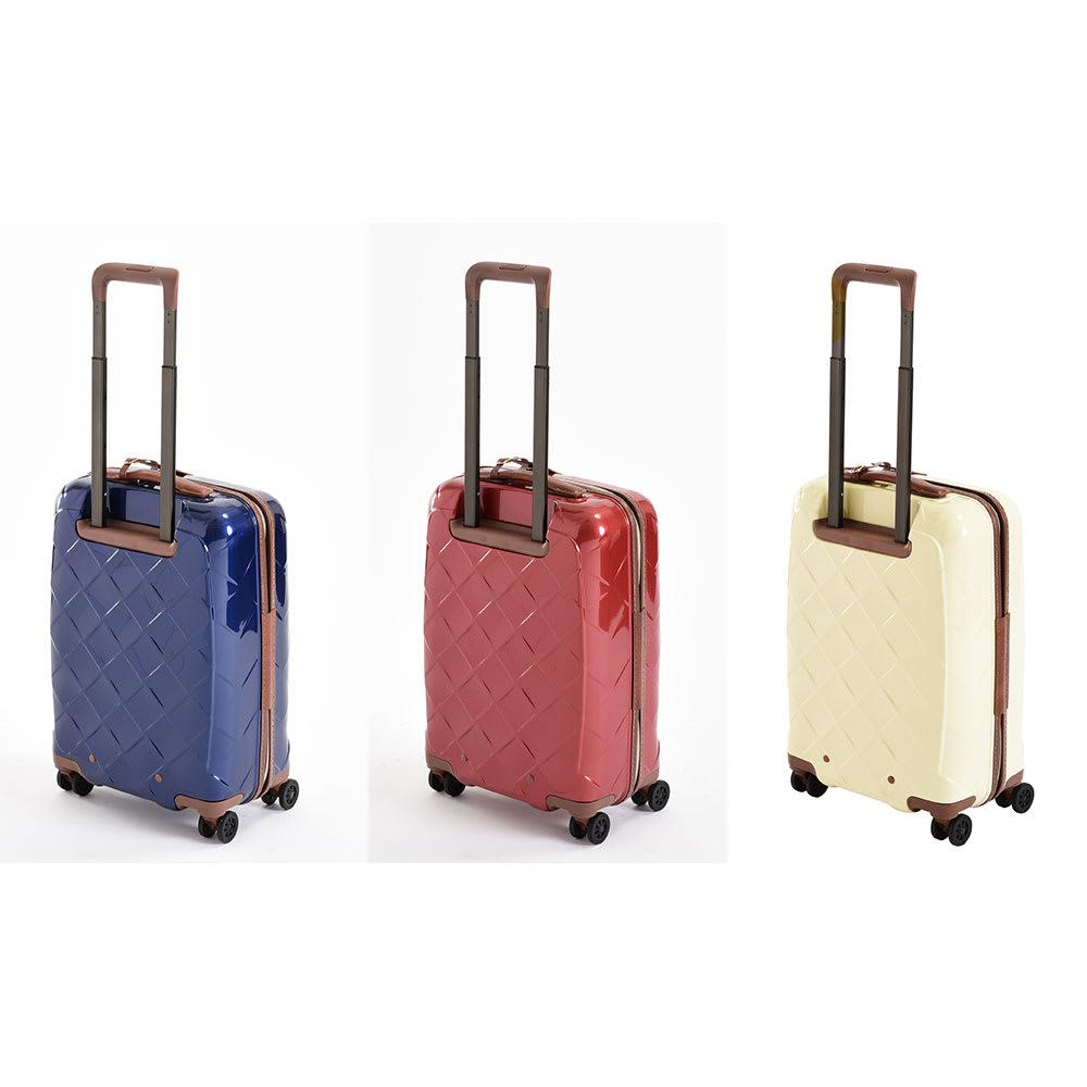 (Mサイズ 4輪/65L/3.43kg)Stratic(ストラティック)/「Leather & More」日本限定版 ハードスーツケース 中型(3-9902-65)|キャリーケース・キャリーバッグ Sサイズ/(ア)ネイビーブルー、(イ)カーマインレッド、(ウ)ミルク