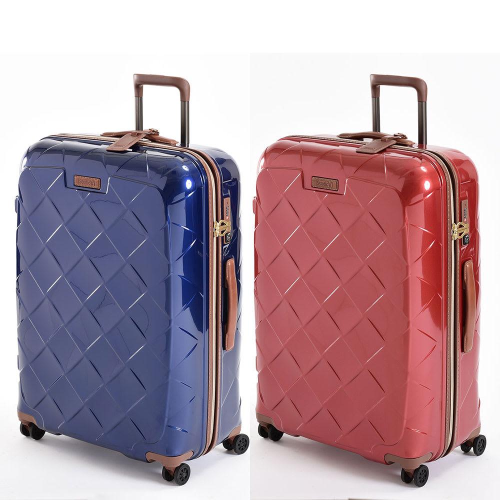 (Lサイズ 4輪/100L/4.36kg)Stratic(ストラティック)/「Leather & More」日本限定版 ハードスーツケース 大型(3-9902-75)|キャリーケース・キャリーバッグ Lサイズ/(ア)ネイビーブルー、(イ)カーマインレッド
