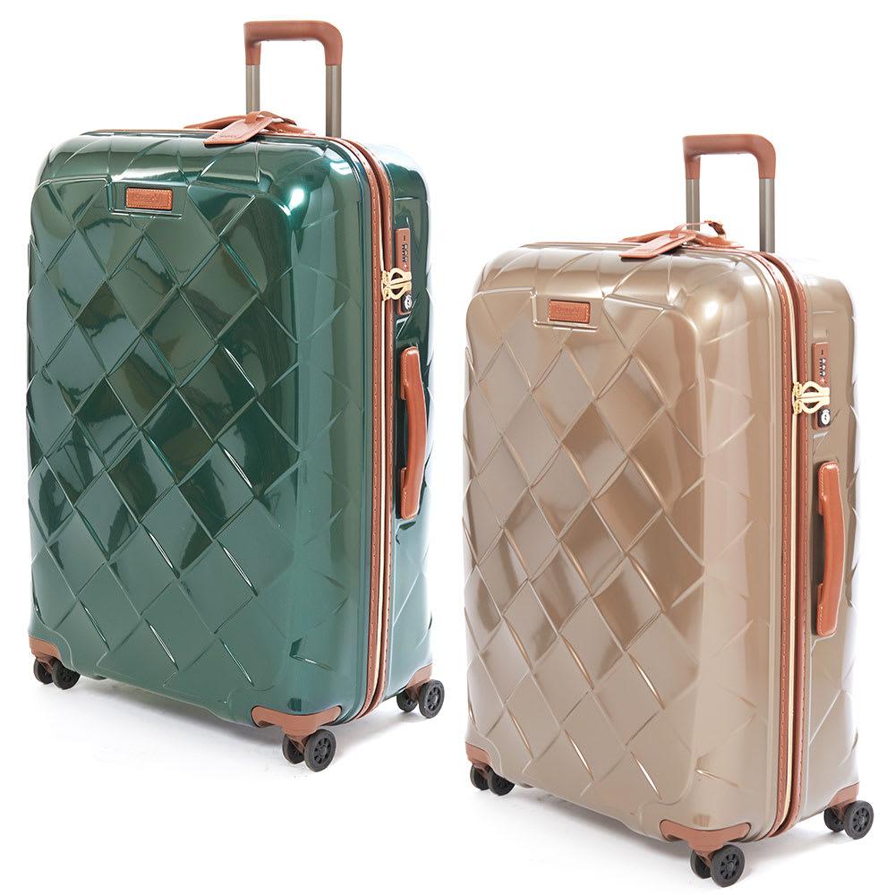 (Lサイズ 100L 4.36kg)Stratic(ストラティック)/「Leather & More」スーツケース|キャリーケース・キャリーバッグ (ア)ダークグリーン、(イ)シャンパンLサイズ