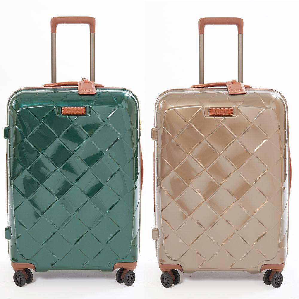 (Lサイズ 100L 4.36kg)Stratic(ストラティック)/「Leather & More」スーツケース|キャリーケース・キャリーバッグ (ア)ダークグリーン、(イ)シャンパンMサイズ