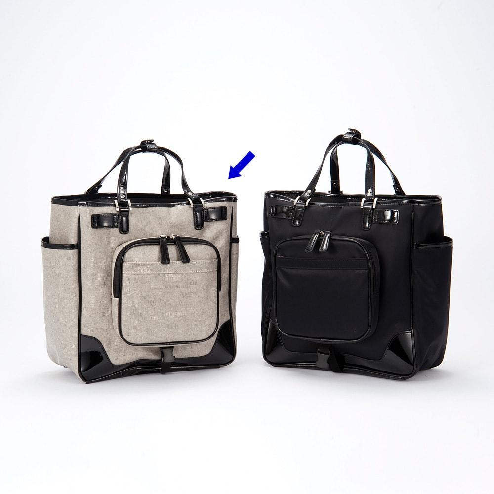 SWANY(スワニー)/支えるショッピングキャリーバッグ モノグラーモ・C M18 M18/裏面にファスナー式ポケット
