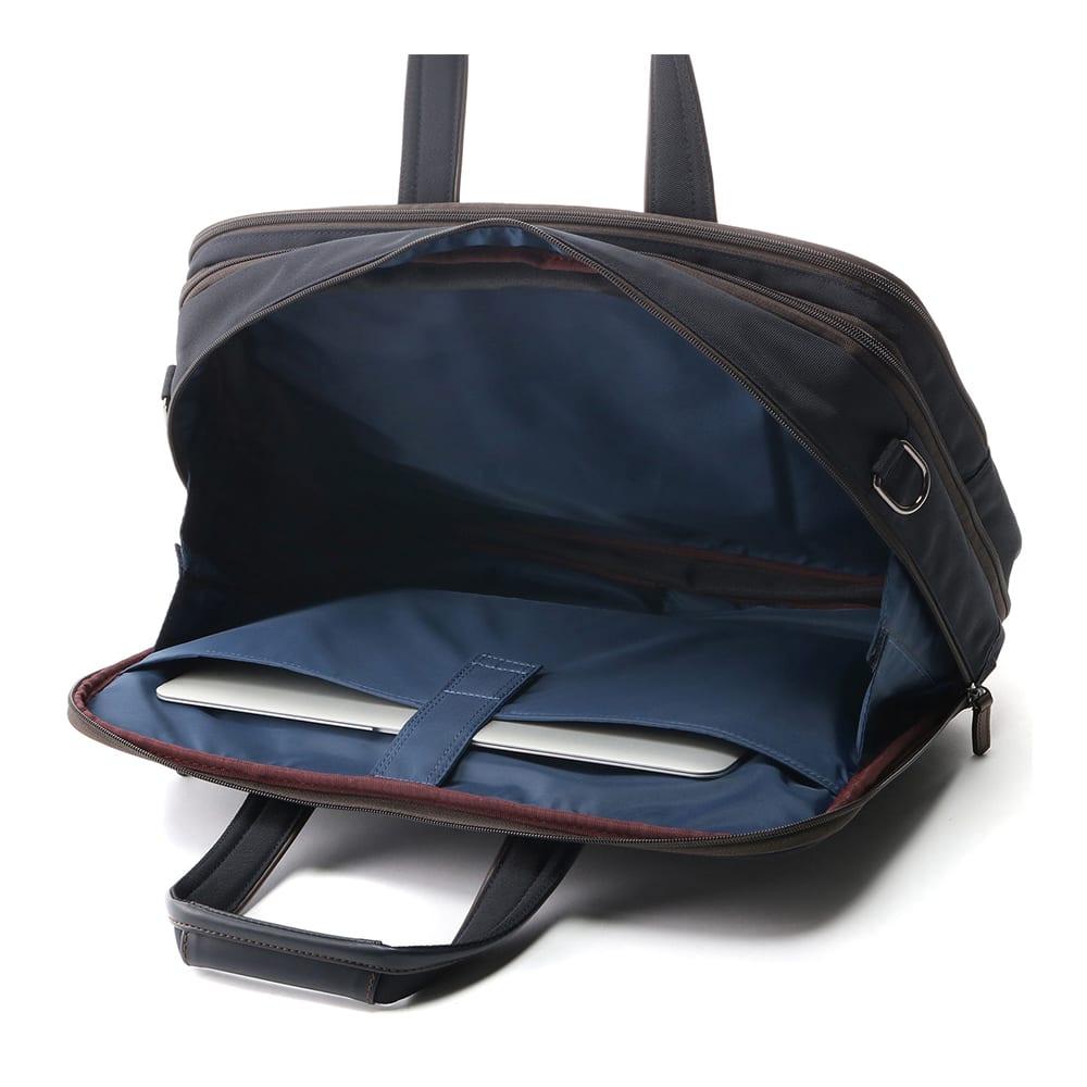 ace.(エース)/WORLD TRAVELER(ワールドトラベラー) ギャラント|2気室ビジネスバッグ 内装(色はダミーです。本体生地はブラックです。NV3441を参照下さい。)