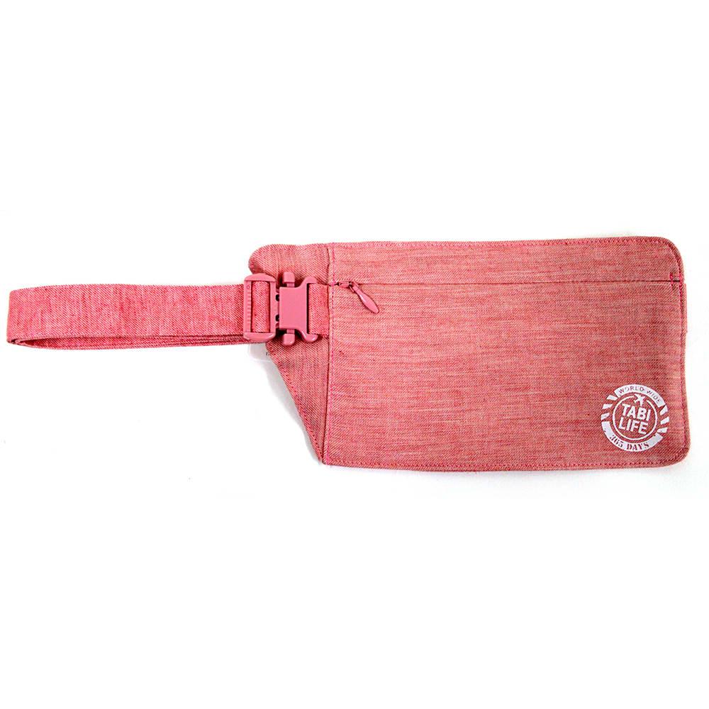 地球の歩き方×たかのてるこ 旅袋 ウエストタイプ (エ)ピンク