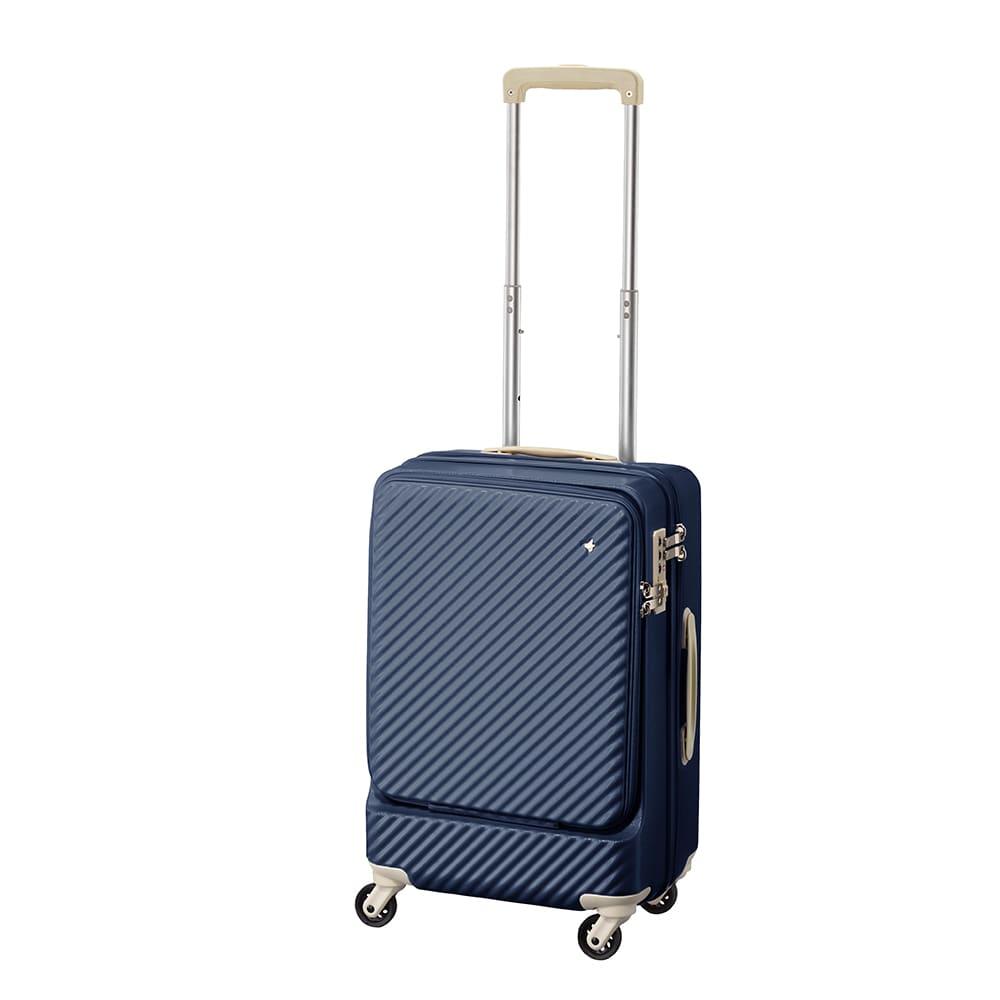 ACE HaNT(ハント) フロントポケット付スーツケース (イ)ビオラネイビー