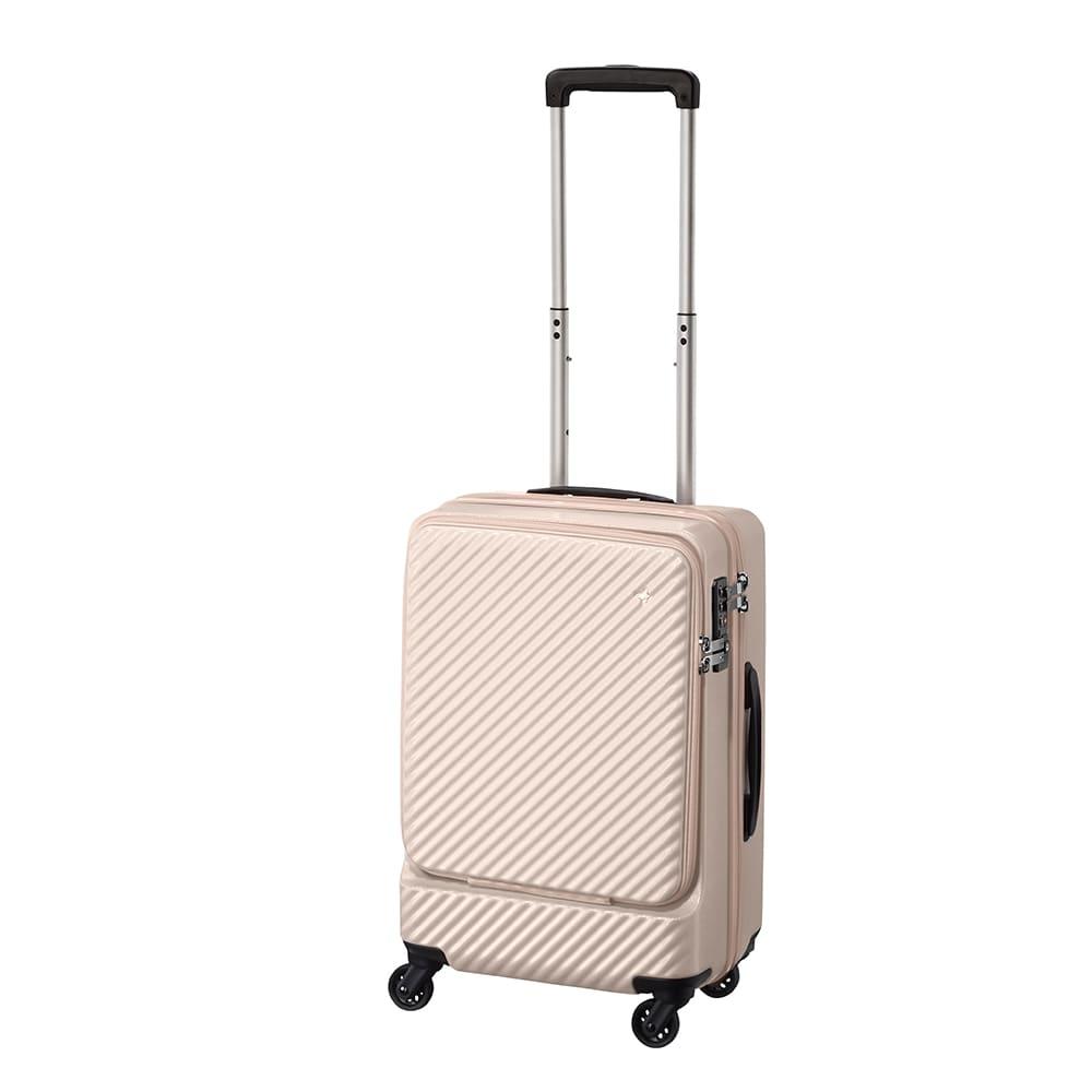 ACE HaNT(ハント) フロントポケット付スーツケース (ウ)ダリアベージュ