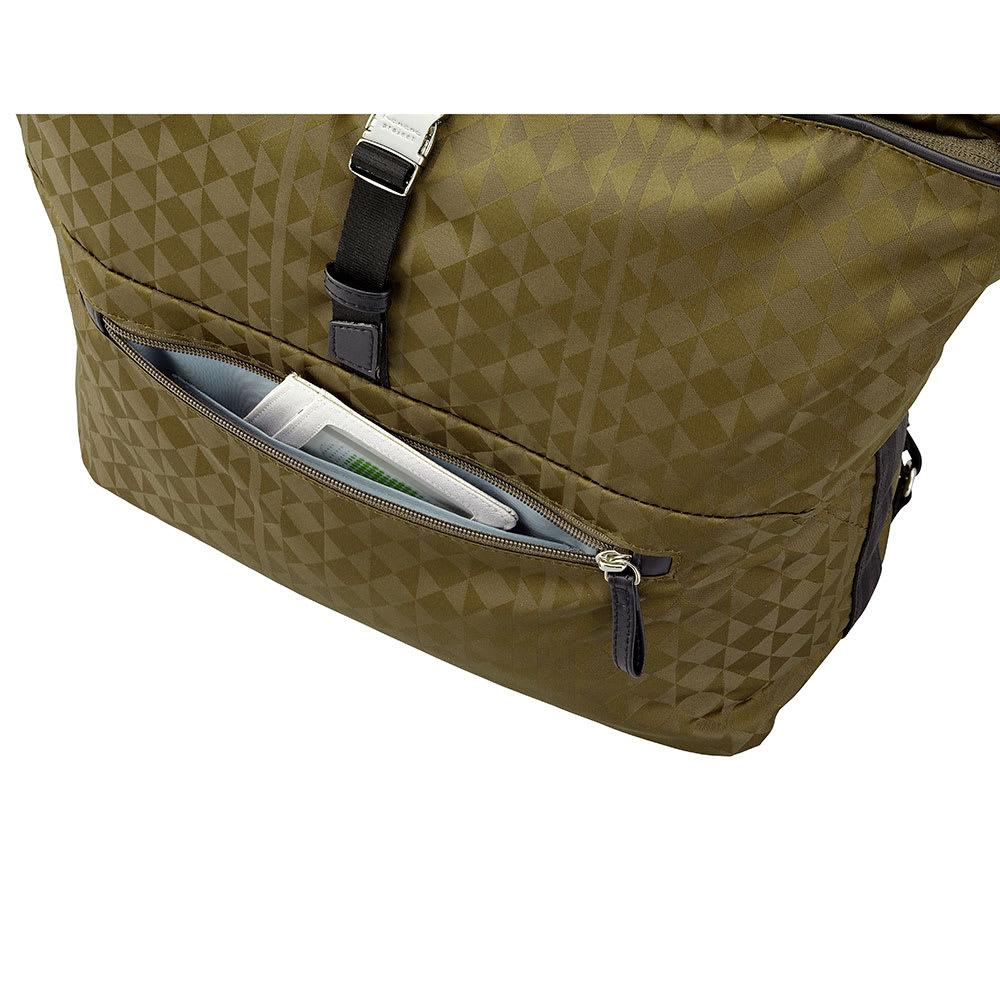 カナナプロジェクト モノグラム トートボストンバッグ *画像はNV1404 すぐに取り出したい小物の収納に便利な前ポケット