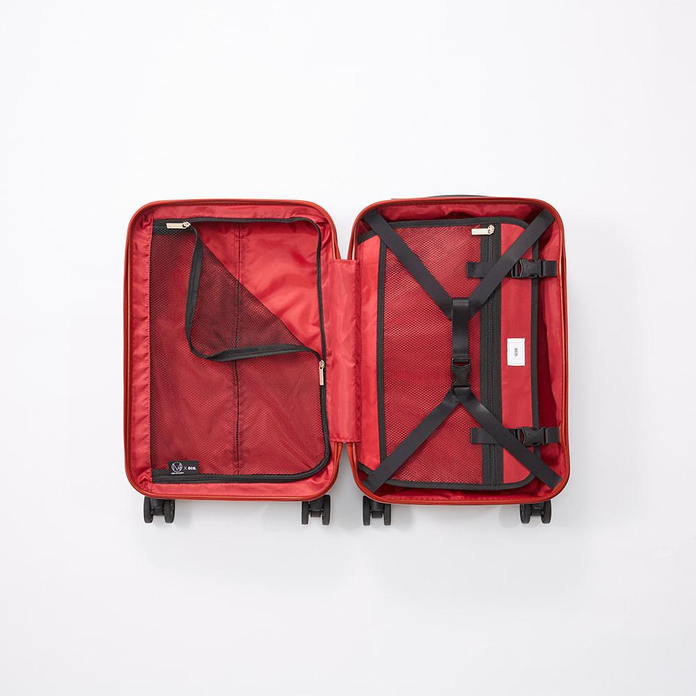 M / mika ninagawa(エム/ミカ ニナガワ)×ace.(エース)|35L スーツケース (イ)レッド柄