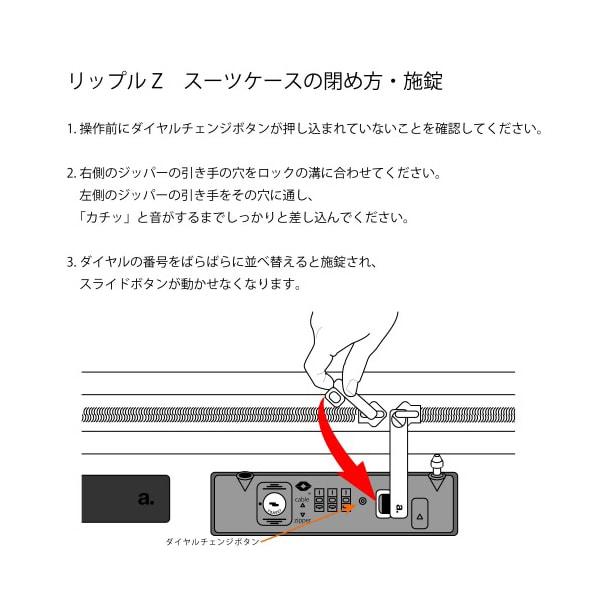 M / mika ninagawa(エム/ミカ ニナガワ)×ace.(エース)|35L スーツケース スーツケースの開け方-2