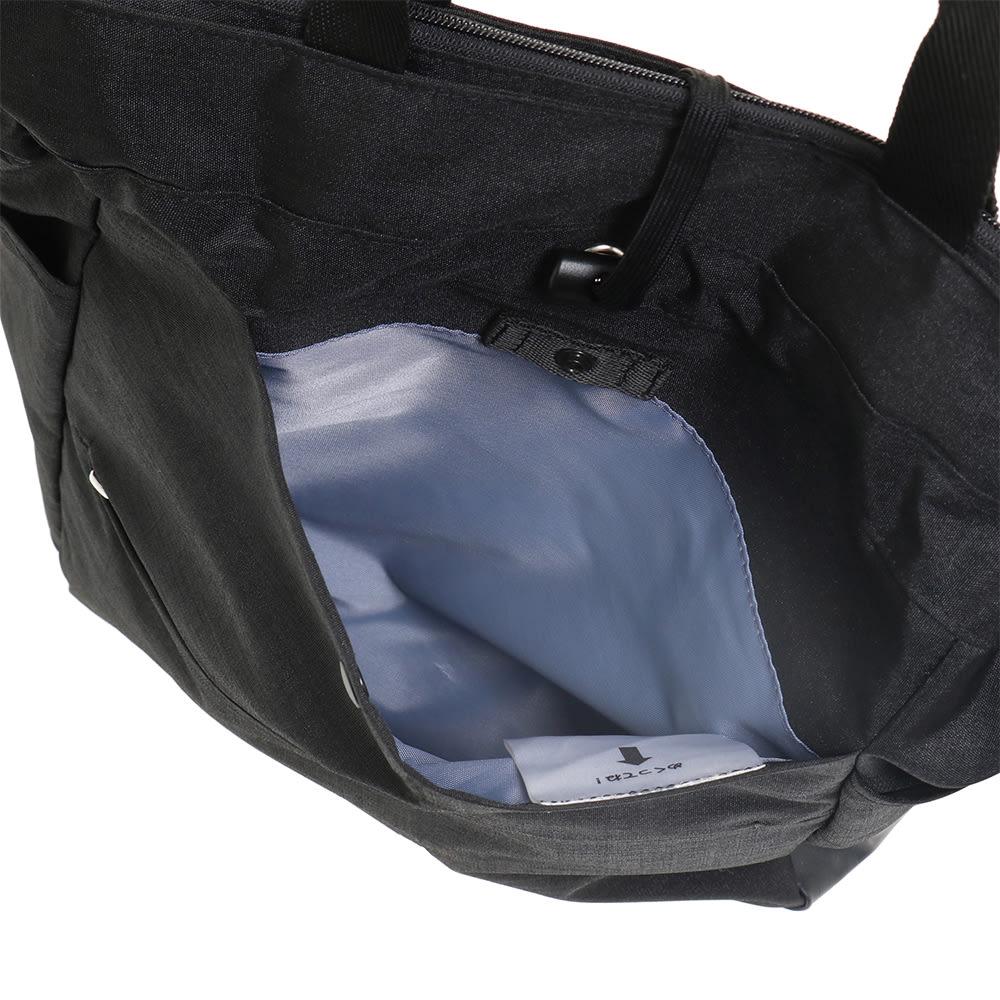 WORLD TRAVELER(ワールドトラベラー)/リンク トート型リュック サッと取出したい荷物を入れるのにも便利な前ポケット。