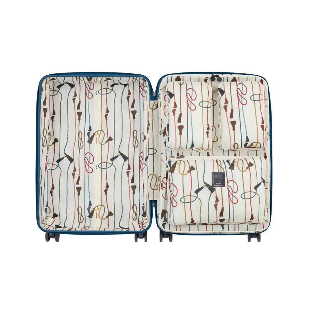 ACE HaNT(ハント)/ソロ ストッパー付スーツケース 53L 本体内装…(イ)トパーズブルー