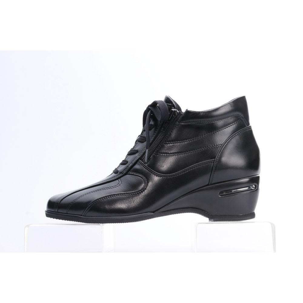 神戸シューズ 時見の靴/牛革エアーヒールショートブーツ かかと部分にはエアーヒールを内蔵