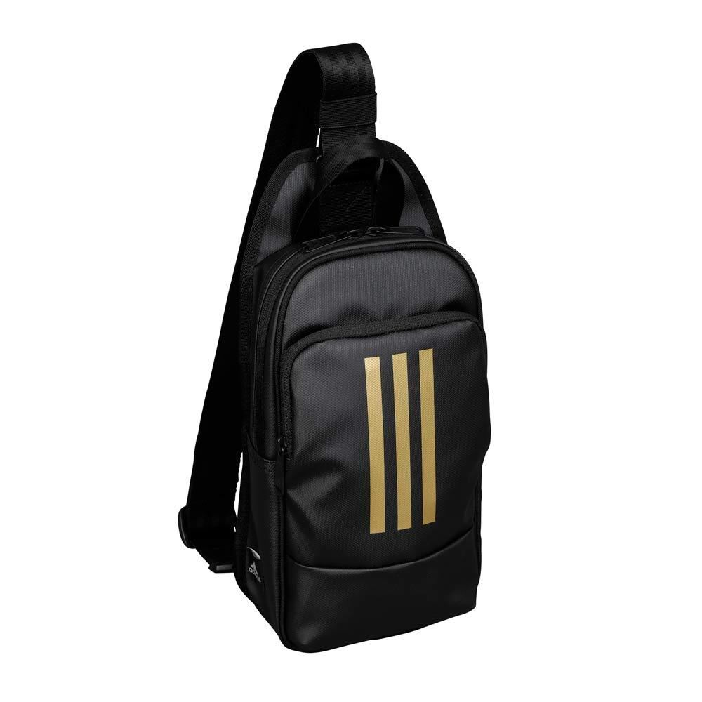adidas(アディダス)/フォルカー ワンショルダーバッグ (ウ)ブラック×ゴールド