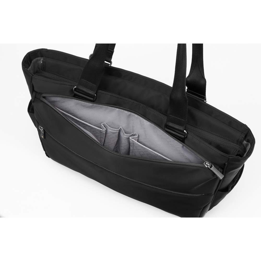 ace.GENE(エース ジーン)/B4&PC対応 横型トートバッグ  ペンやモバイル端末などを収納できる便利な前面ポケット