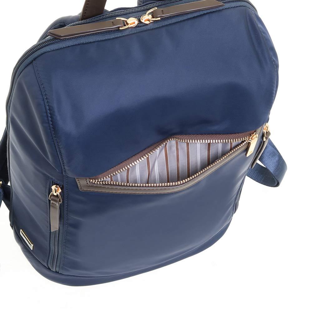 ace.(エース)/スリマリー シンプルな1気室のレディスビジネスリュック 出し入れしやすい前ポケット