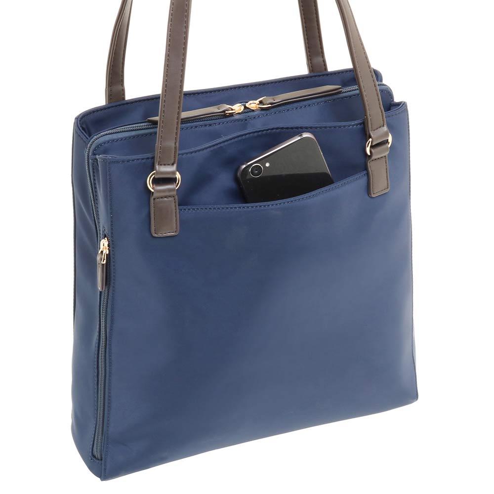 ace.(エース)/スリマリー 普段使いにちょうど良い縦長スタイルのビジネストート サッと出し入れしたい小物の収納に便利な背面ポケット