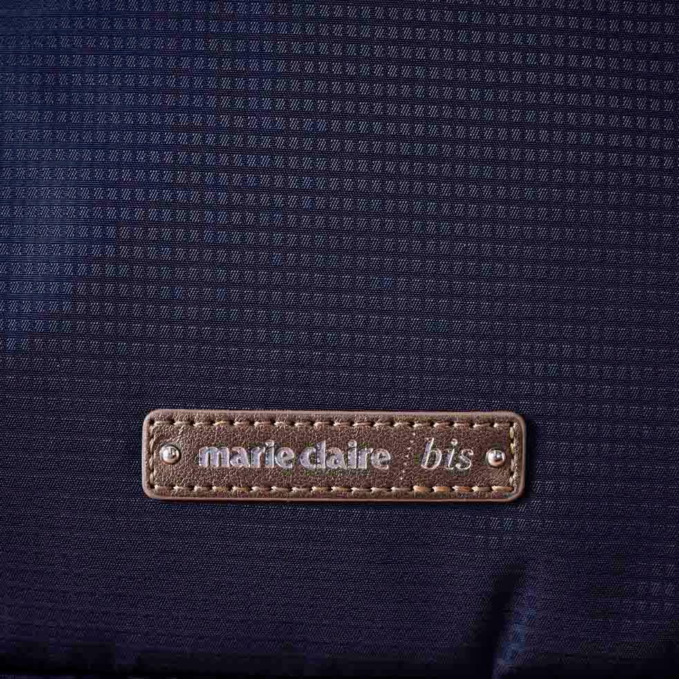 marie claire bis(マリ・クレール ビス)/エブド ショルダーバッグ (イ)ネイビー…生地アップ