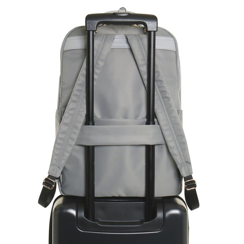 ace.(エース)/リモフィス 15.6inchパソコン収納対応、大容量リュック スーツケースなどのハンドルに固定できるセットアップ機能