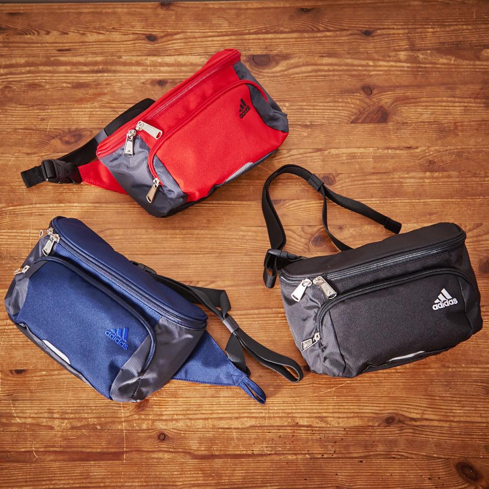 adidas(アディダス)/ウエストポーチ (ア)ブラック、(イ)ネイビー、(ウ)スカーレット(レッド)