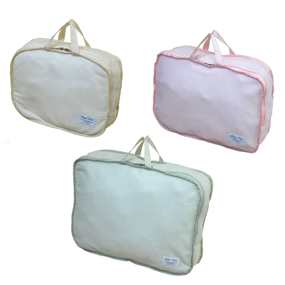 ランジェリーメッシュバッグ (ア)アイボリー/Sサイズ、(イ)ピンク/Mサイズ、(ウ)パステルグリーン/Lサイズ