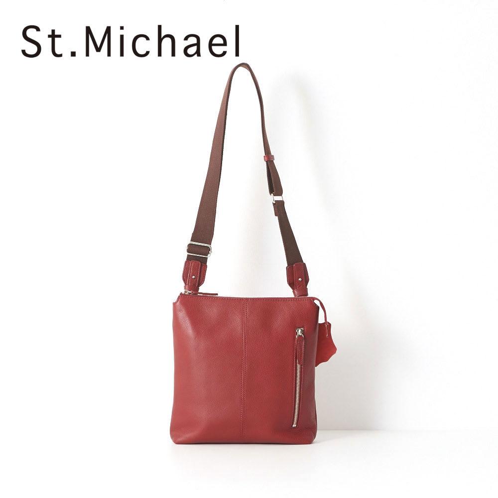 St.Michael(セントミッシェル)/たて型ショルダーバッグ (イ)レッド