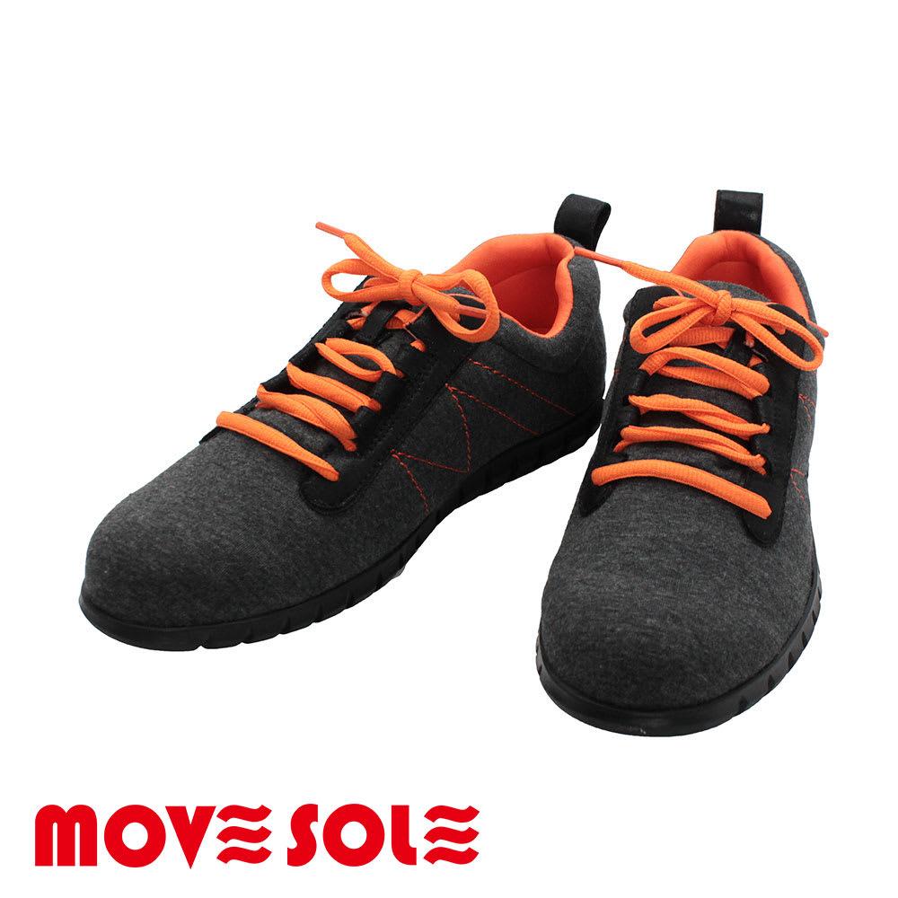 (ブラック)MOVESOLE(ムーブソール) スウェットタイプ レディースウォーキングシューズ(22-25.5cm)|スニーカー ブラック S~LL