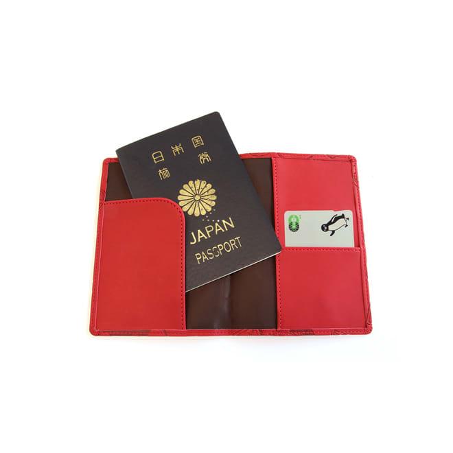 スキミング防止機能付き パスポートカバー(パスポートやクレジットカードの不正読み取りを防ぐ) (イ)レッド…使用例