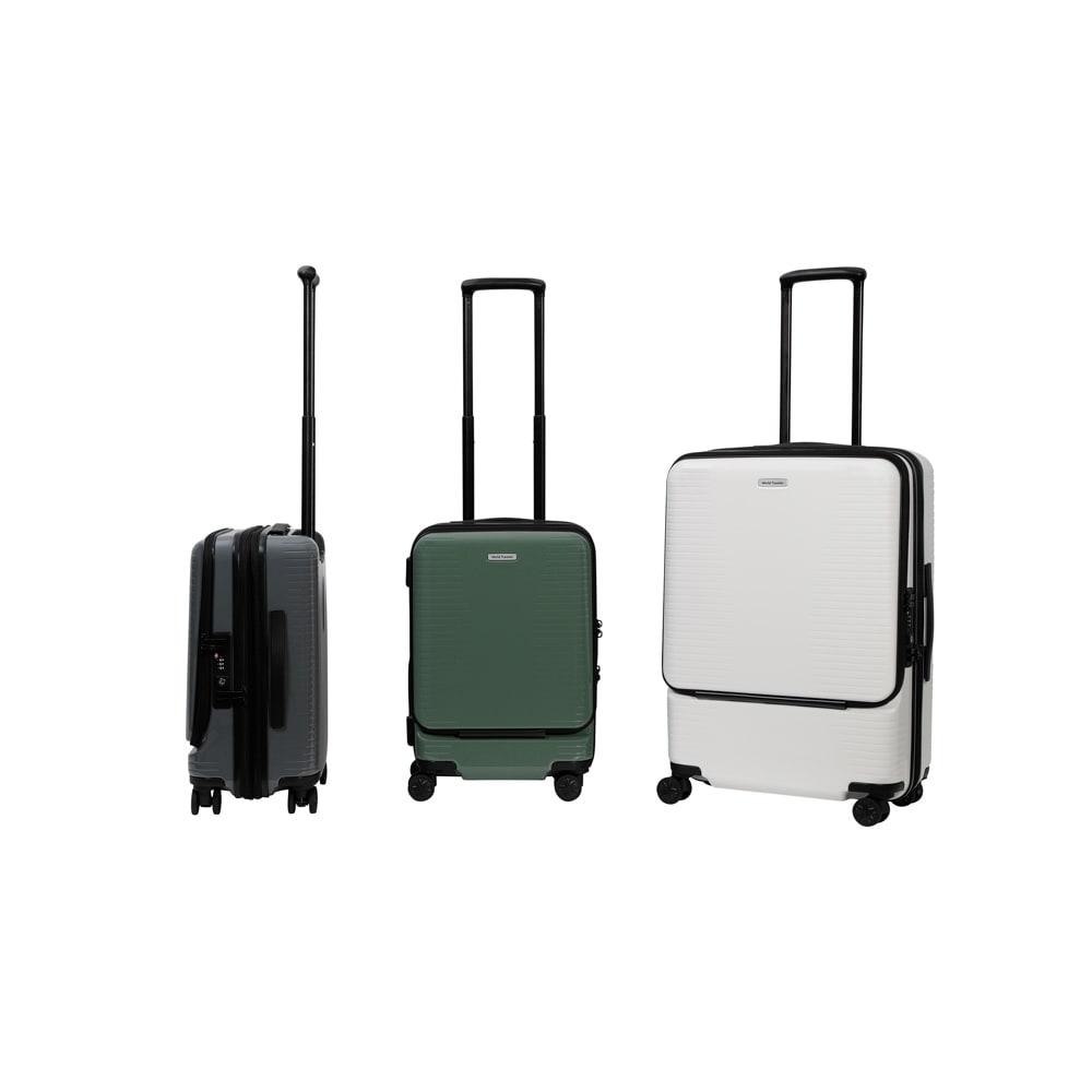 WORLD TRAVELER(ワールドトラベラー)/プリマス 1~3泊用スーツケース ガンメタリック02/グリーン04/ホワイト06 スーツケース(ハードタイプ)