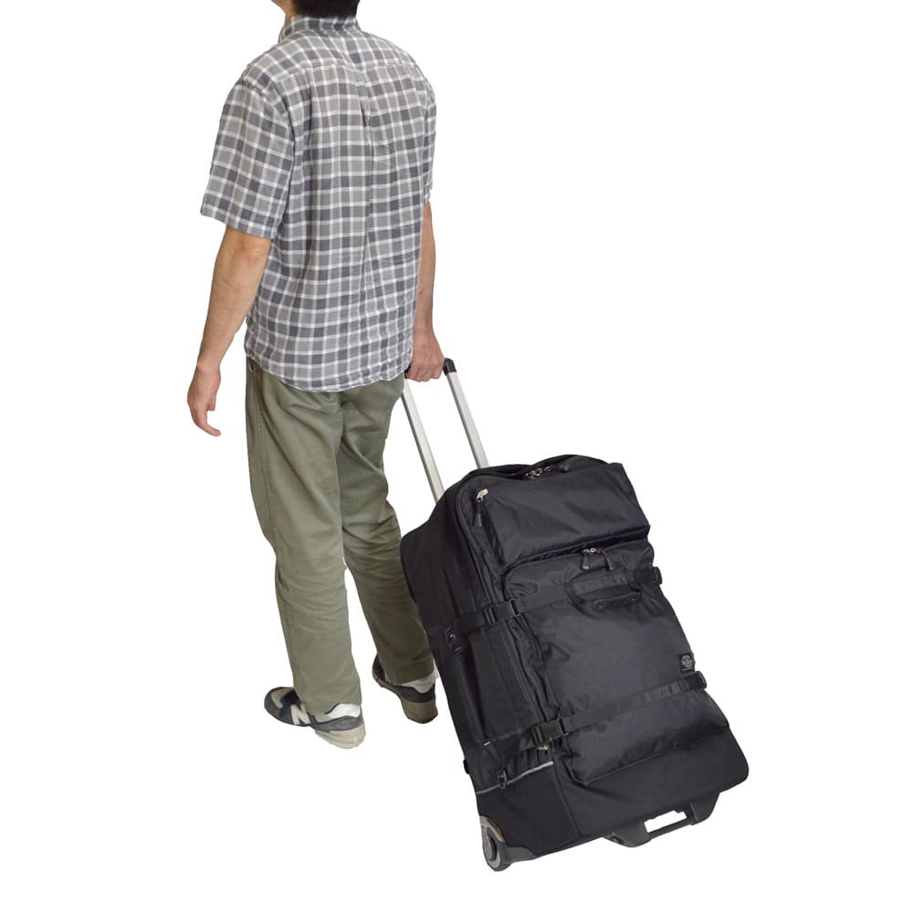 SOLO TOURIST(ソロツーリスト)/ビッグキャリー100L ブラック スーツケース(ソフトタイプ)