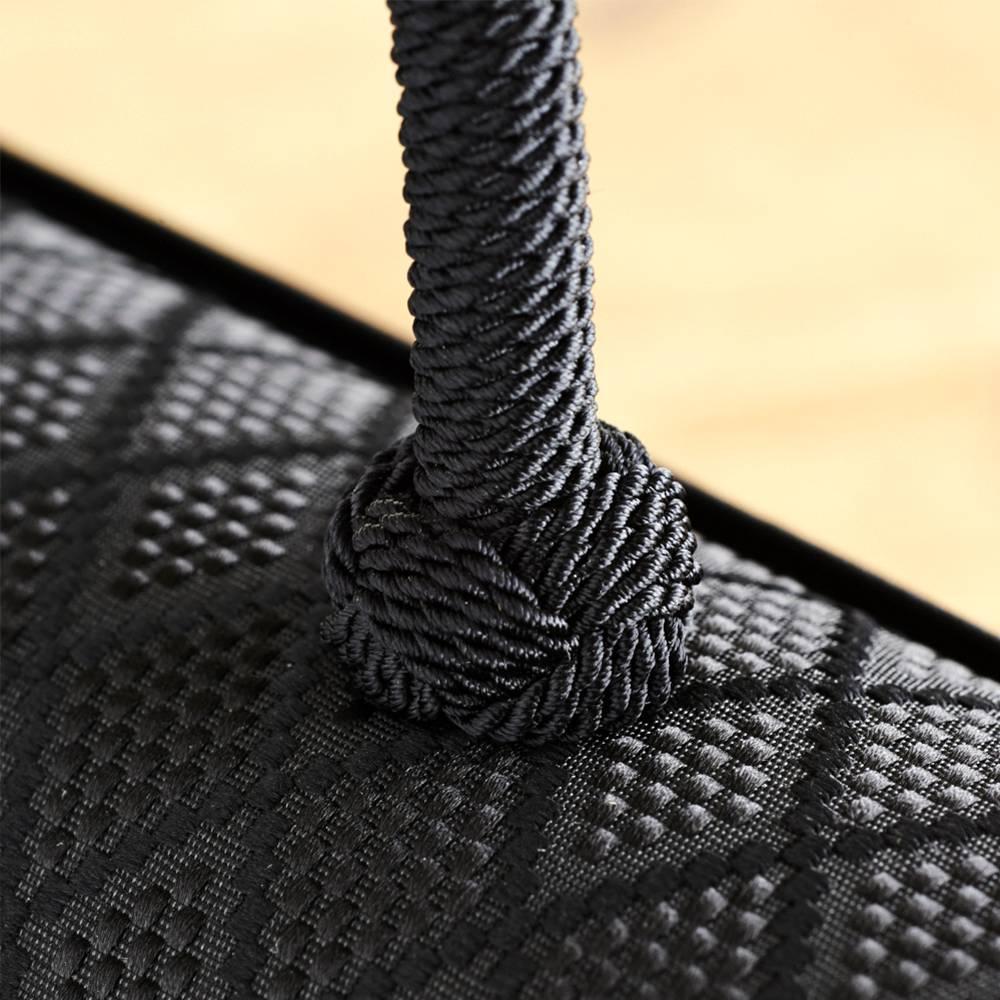 岩佐/博多織編み手 撥水フォーマルバッグ |結婚式・卒業式・入学式・法事・パーティー 持ち手部分には博多織物との相性を考えて編み手仕様を採用