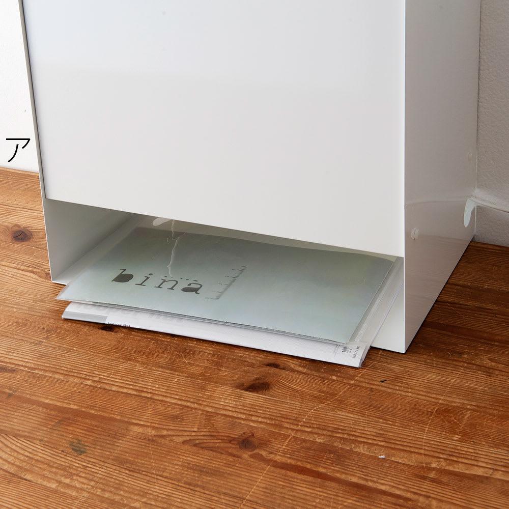 FRAMES&SONS(フレームズアンドサンズ)/kakusu ルーターボックス 下の段には電話帳やFAX用紙、出前のチラシなどちょっとしたものを置ける収納スペースを確保