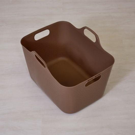 FRAMES&SONS(フレームズアンドサンズ)/K-Line ランドリーワゴン(バスケット3個付き) ソフトバスケットはフレキシブルで柔軟なポリエチレン製。丸洗いもOKなので、清潔に保てます。