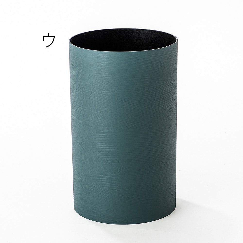 橋本達之助工芸/塗り職人が描くさざ波模様 ダストボックス|ゴミ箱 ウ:ブルー